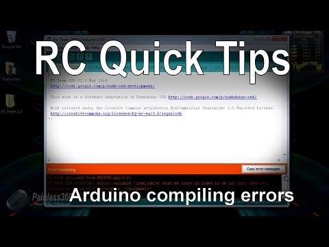 RC Quick Tips - Fixing Arduino Verify/Compile Errors