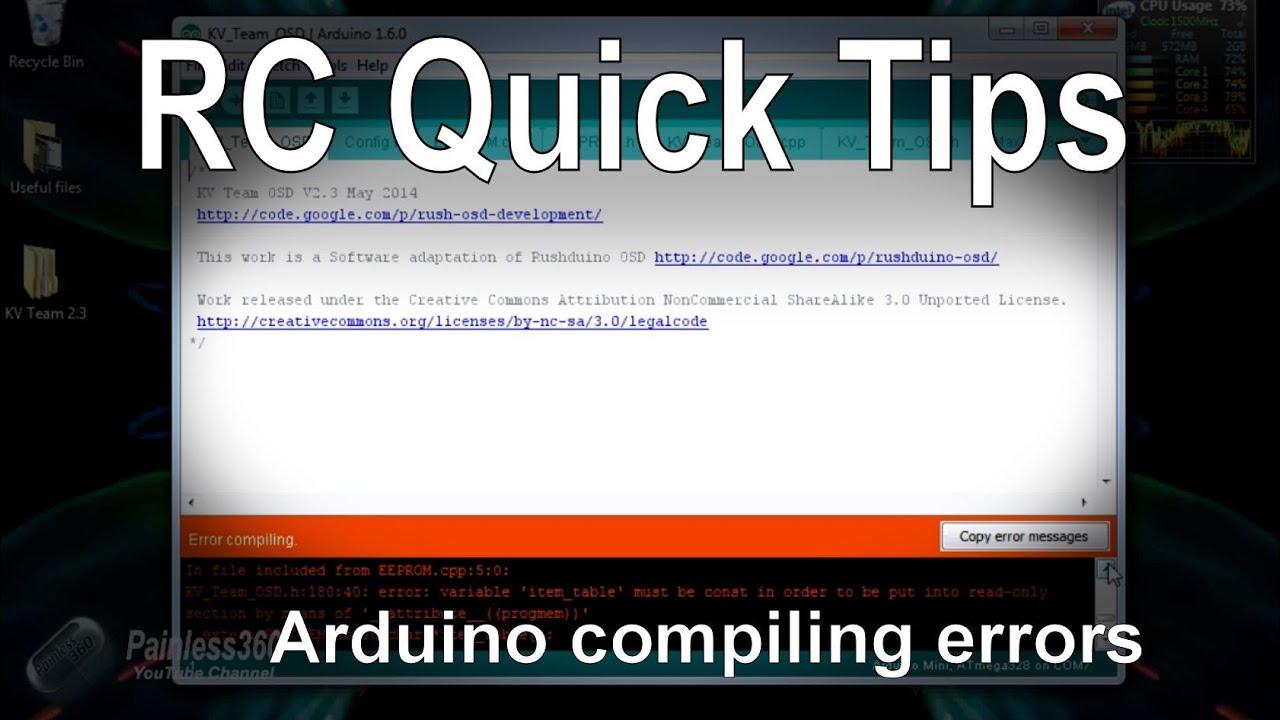 RC Quick Tips - Fixing Arduino Verify/Compile Errors