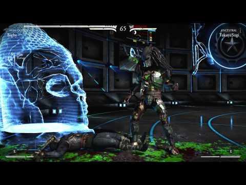 Mortal Kombat X Training Kung Jin (Ancestral) vs Predator (Hish-Qu-Ten)