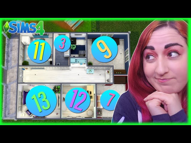 #️⃣ Number Generator Decides How Many Items Are in Each Room // Sims 4 Build Challenge