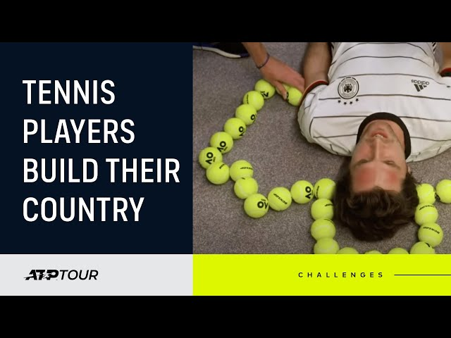 Players Create Their Country With Tennis Balls!