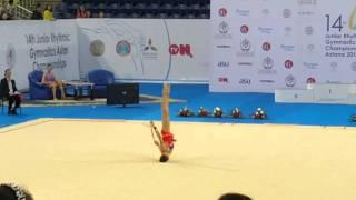 Алина Адильханова чемпионка Азии по художественной гимнастике среди юниоров