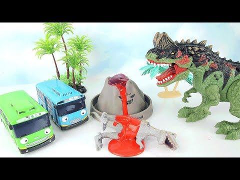 Dinosaurs Volcano Attack TayoToys Playset - Learn Dinosaurs With Volcano Science Kit.