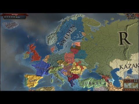 Europa Universalis 4 AI Timelapse - The Latest of the Longest Mod 2018-2550