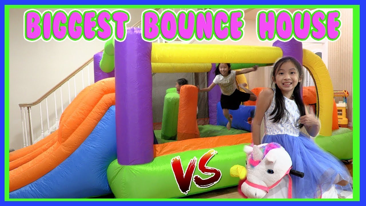 Pretend Play Mcdonalds Drive Thru With Ryans Toy Review Inspired Biggest Bounce House Challenge