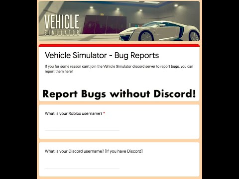 Vehicle Simulator News Report Bugs Without Discord Youtube