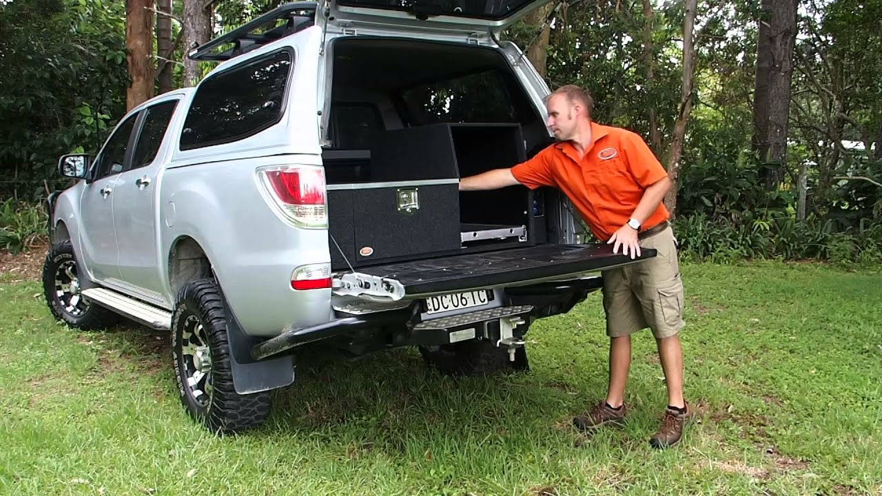 Mazda BT50 Custom Drawer System - YouTube