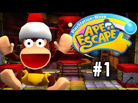 PlayStation Move Ape Escape [PT Part 1] [Intro & Wobbly Home]