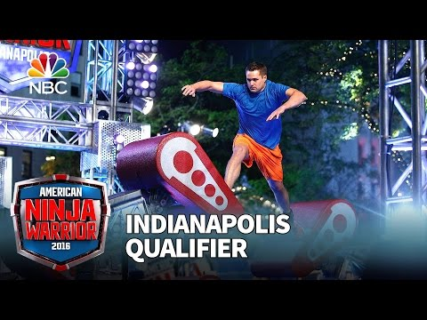Ricky Stenhouse Jr. at the Indianapolis Qualifier - American Ninja ...