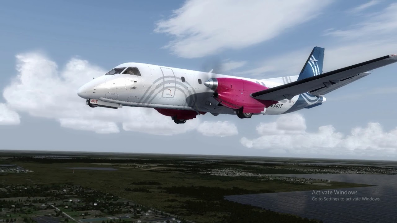 Prepar3D V4 1 | Carenado Saab 340 | Silver Airways Smooth Landing In Orlando