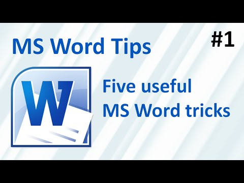 Five useful MS Word tricks (MS word tips #1)