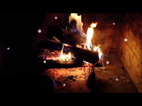 2 Hour Medley of Holiday Songs With Burning Logs In Fireplace