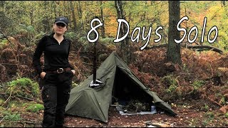 8 Day Solo | Canvas Lavvu | Woodburner | Bushcraft Camp