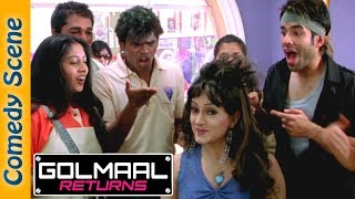 Tusshar Kapoor Comedy Scene - Golmaal Returns - Arshad Warsi - Kareena Kapoor - Indian Comedy