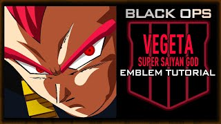 VEGETA Super Saiyan God SSG Black Ops 4 Emblem Tutorial
