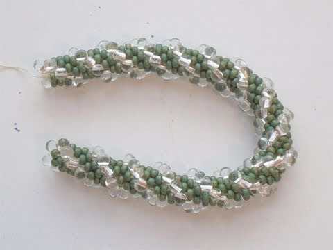 Beadsfriends Bead Crochet Rope With Seed Beads And Drops By Miyuki