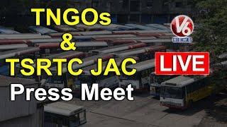 TNGOs,TGO & TSRTC JAC Press Meet Live | V6 Telugu News