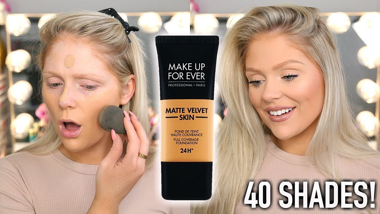 New Makeup Forever Matte Velvet Skin Foundation First Impressions