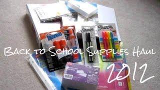 Haul #1; Back to School Supplies 2012