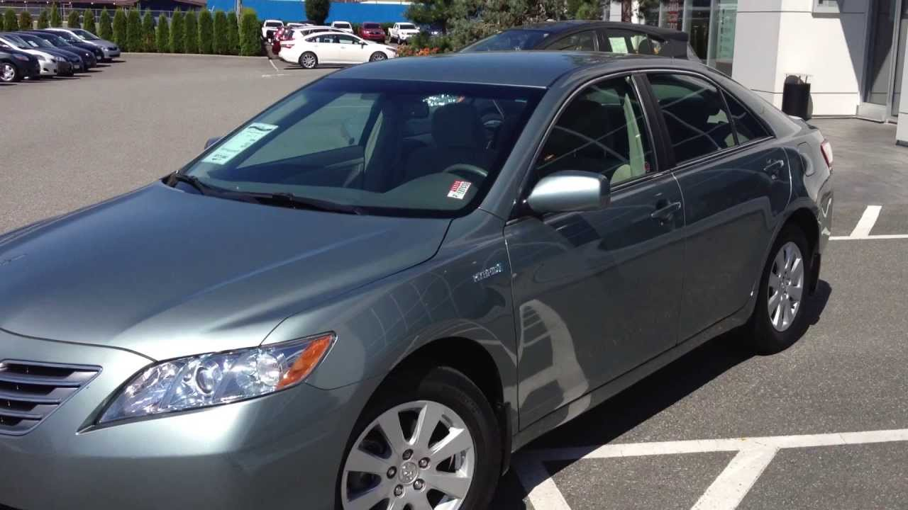 sold 2007 toyota camry hybrid preview for sale at valley toyota scion in chilliwack b c 13939a