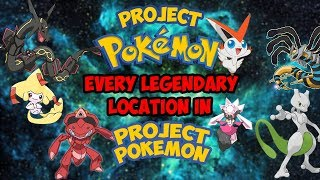 EVERY LEGENDARY OR MYTHICAL LOCATION IN PROJECT POKEMON (Roblox - Project Pokemon)