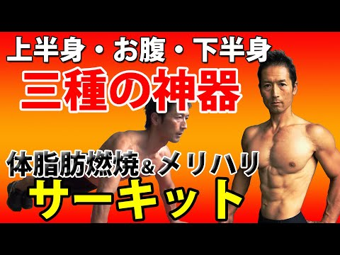 お腹引き締め、メリハリを作って体脂肪燃焼!上半身・腹筋・下半身の三種の神器サーキット! 自宅トレーニング バックランジ