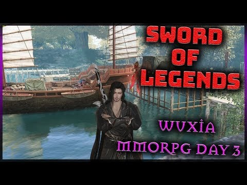 🌺SWORD OF LEGENDS Open Beta in China (Wuxia MMORPG) Max Level Gameplay Part 3