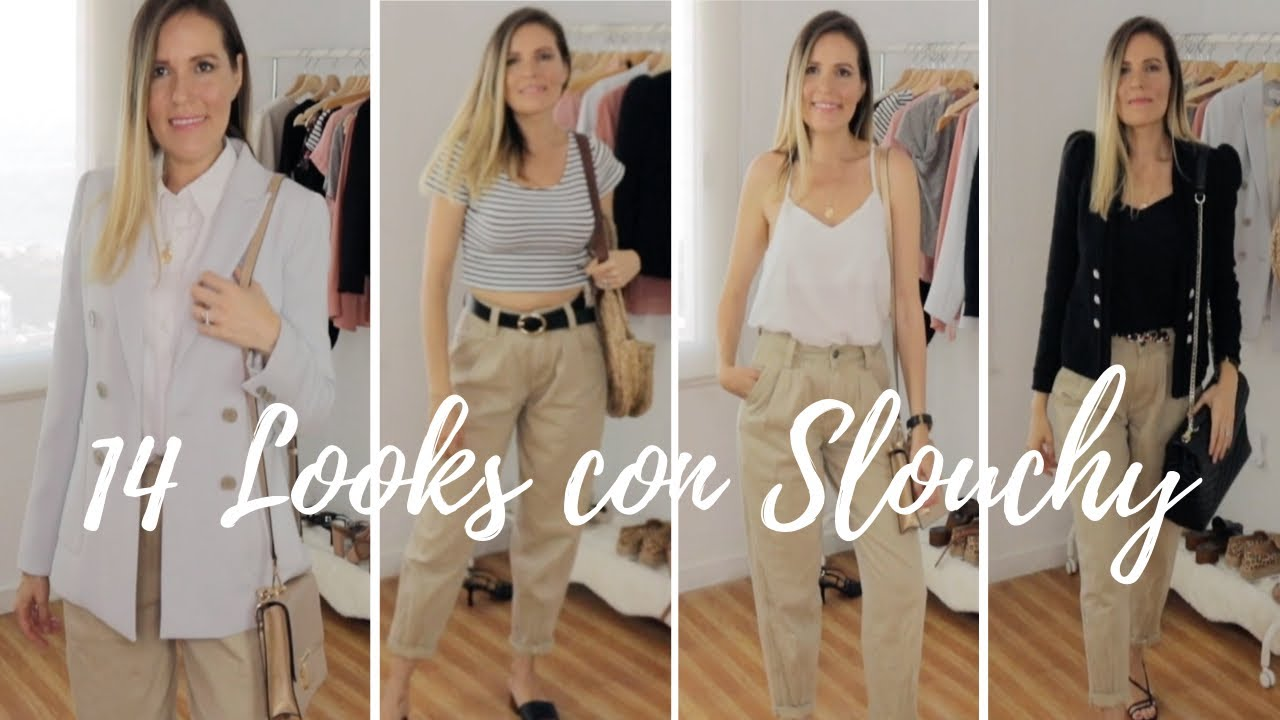 14 Looks Con Pantalones Slouchy Outfits Slouchy Pants Youtube