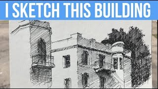 How to Sketch Buildings On-Location | Quick Demo, Tips and Tricks