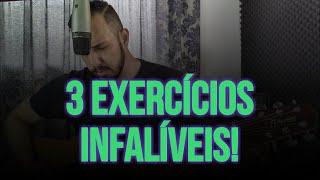 3 EXERCÍCIOS INFALÍVEIS PARA CANTAR BEM! -  AULA DE CANTO E TECNICA VOCAL