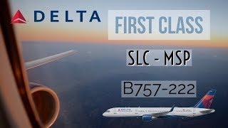 (HD) [ TRIP REPORT ] DELTA AIRLINES  B757-222 FIRST CLASS | SALT LAKE CITY - MINNEAPOLIS |  DL 1440
