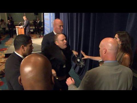 Man interrupts NFL Chief Roger Goodell Domestic Violence ...