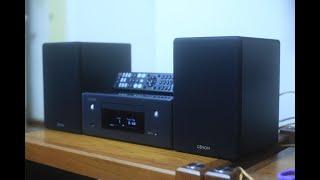 Dàn mini Denon N10 màu đen đẹp như mới ^^ Bluetooth, Airplay 2, CD, USB DSD, Quang In