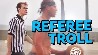 Guy Pretends to be Ref at a Pickup Basketball Game!