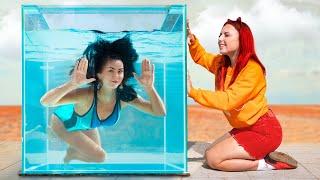 تحدى البنت الرطبه vs البنت الجافه !