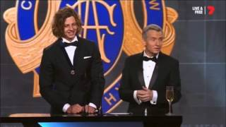 Nat Fyfe Wins AFL Brownlow Medal 2015