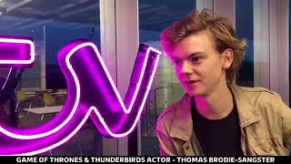 Thomas Brodie-Sangster live Interviewed by ITV London