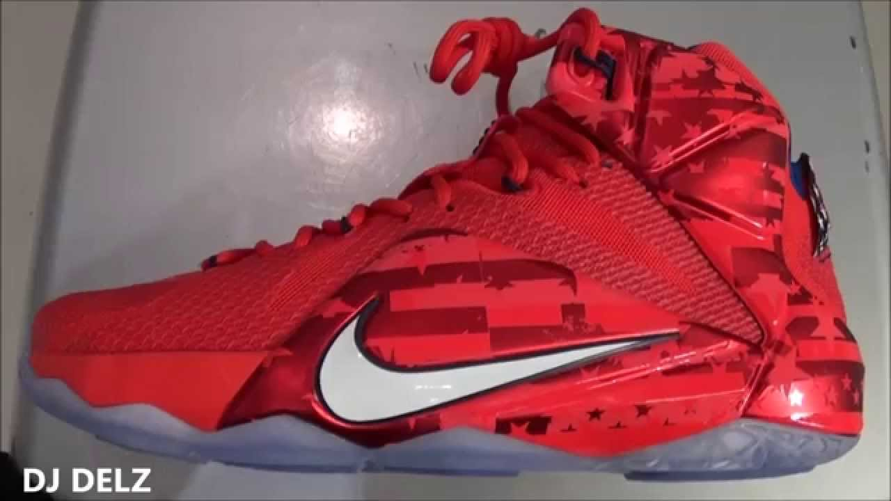 reputable site e7d7b b7a75 Nike Lebron 12 USA Independence Day Sneaker Review