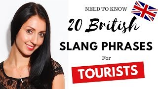 20 British Slang Phrases Tourists Need To Know (Live English Lesson with Anna English)