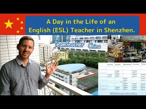 Teaching English in a Public School, China. A Day in the Life of a Teacher.