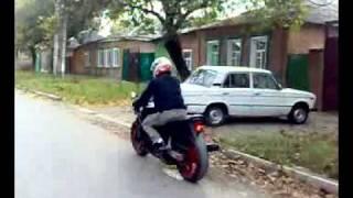 Прикол!!! Падение с мотоцикла Honda CBR 750