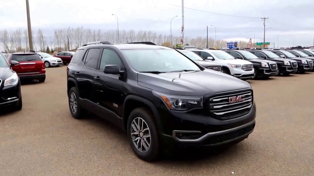 ebony twilight metallic 2017 gmc acadia sle 2 all terrain for sale in medicine hat ab youtube. Black Bedroom Furniture Sets. Home Design Ideas