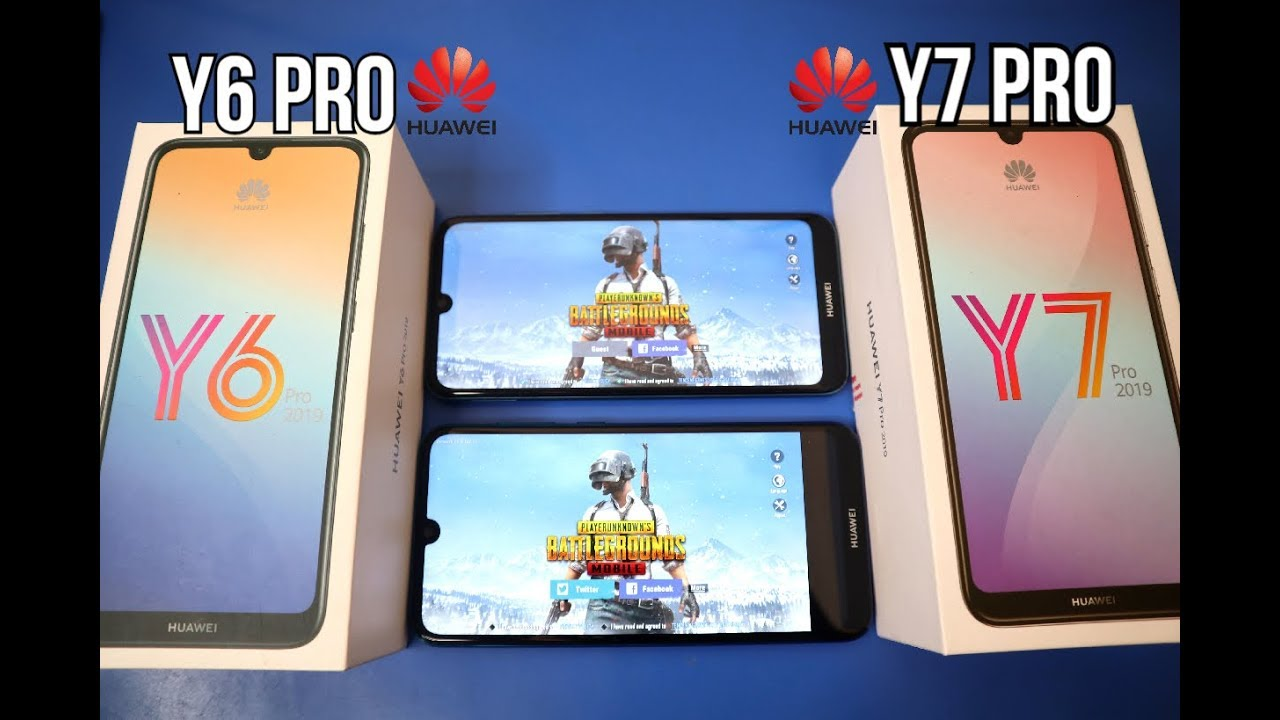 HUAWEI Y6 PRO Vs HUAWEI Y7 PRO (PUBG,SPEED,CAMERA AND BATTER) - TAGALOG  REVIEW