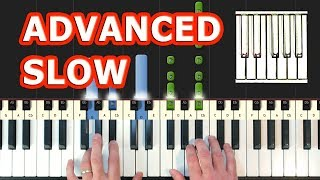 Stephen King's IT - Pennywise Theme (Piano Tutorial Synthesia) SLOW