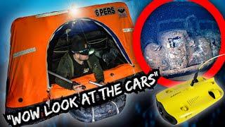 Underground life raft is the craziest idea! (WE FOUND CARS WITH UNDERWATER DRONE)