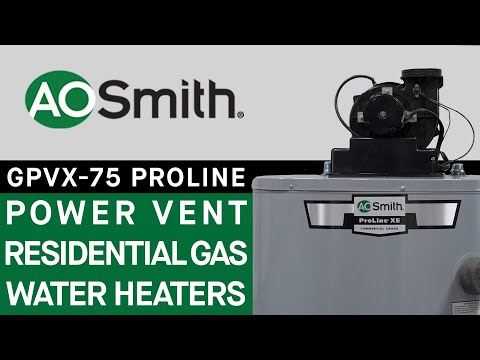 AO Smith GPVX-75 ProLine Power Vent Residential Gas Water Heaters