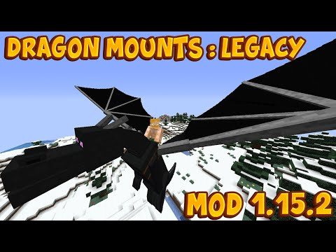 MOD De DRAGONES MASCOTA Para MINECRAFT 1.15.2 😱 Dragon Mounts Legacy Mod 1.15.2