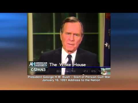 President George H.W. Bush Announces Persion Gulf War 1-16-91