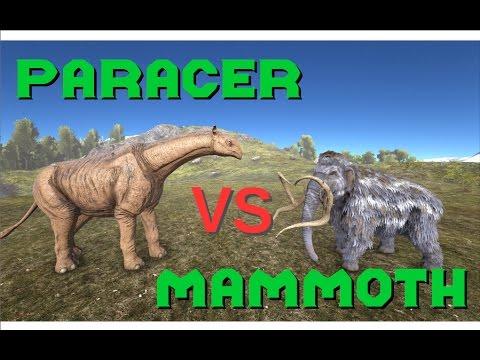 Paracer VS Mammoth || ARK: Survival Evolved