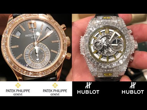 LOOK AT this Insane PATEK PHILIPPE  - HUBLOT - ROLEX Gold and Diamond watches